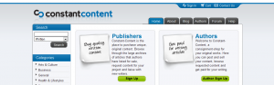 Article writing jobs from Constant Content