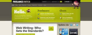Freelancejobs from freelanceswitch