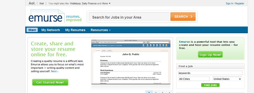 Top Resume Building Sites