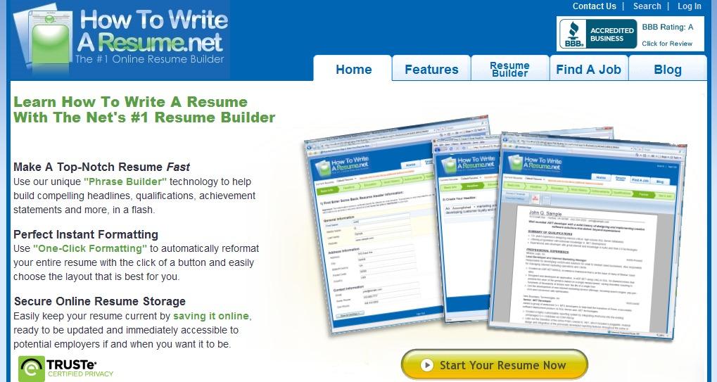 top resume building websites