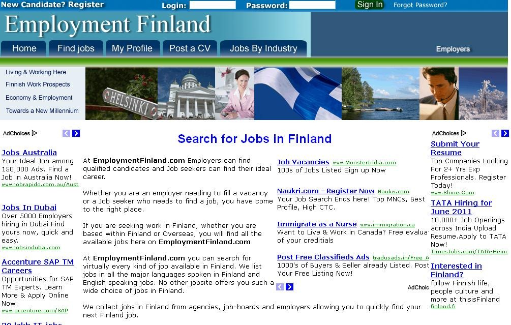 Employment job sites