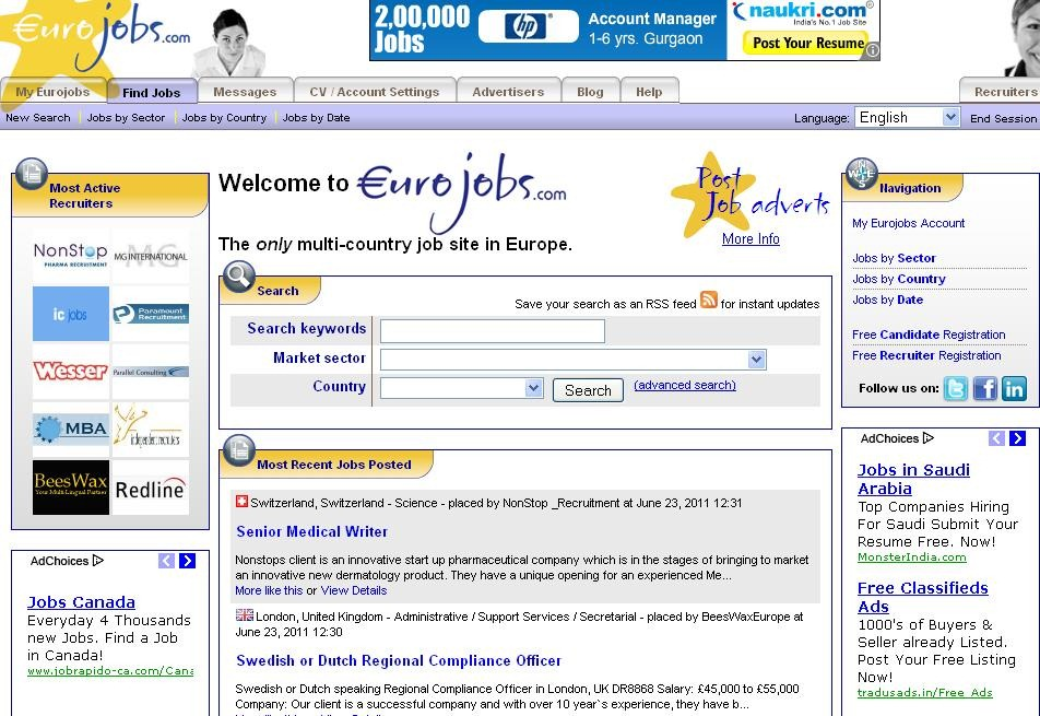 the best job search website