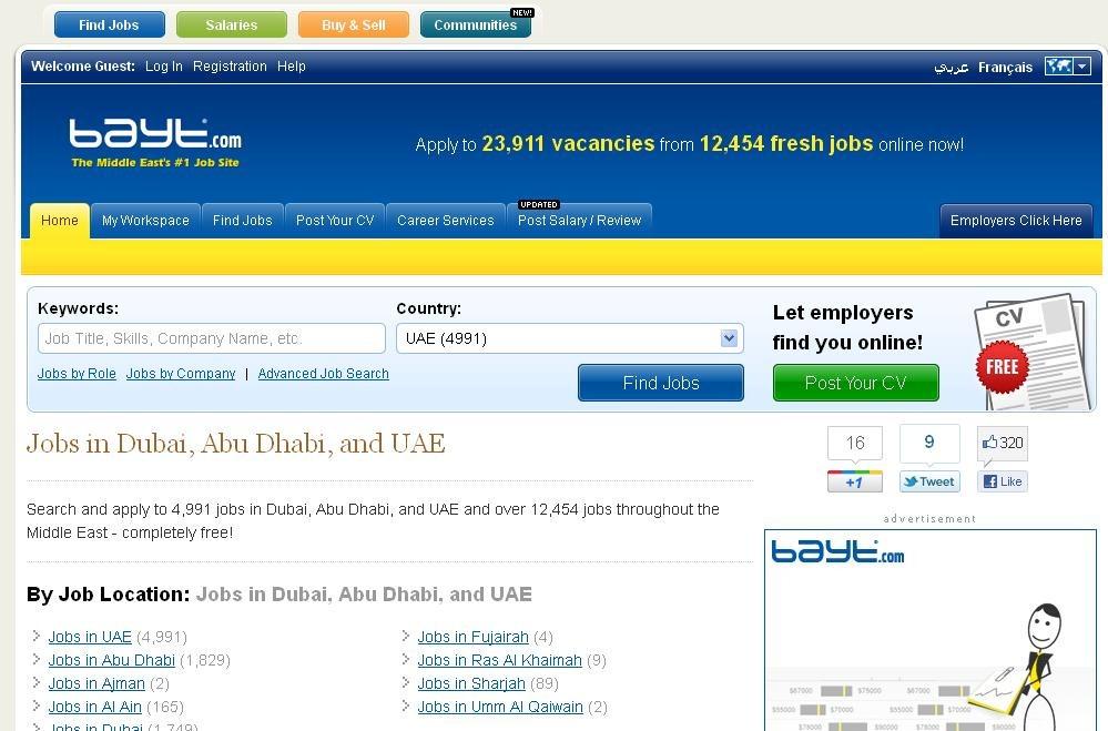 Top 50 Job Websites Ranking in Dubai, UAE & The Middle ...