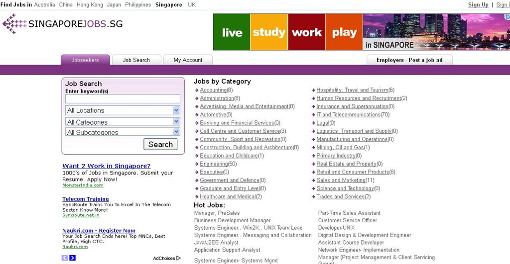 websites to look for jobs