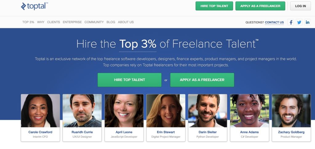 Toptal Freelance Job site