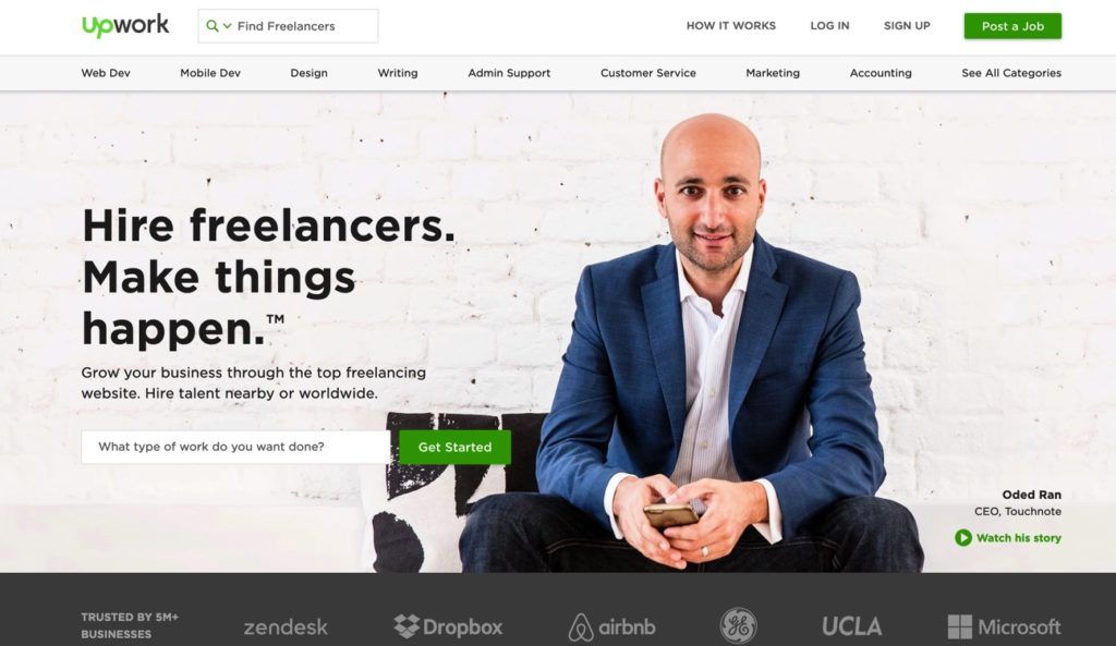 Upwork Freelance Job site