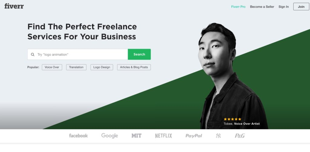 Fiverr Freelance Job site