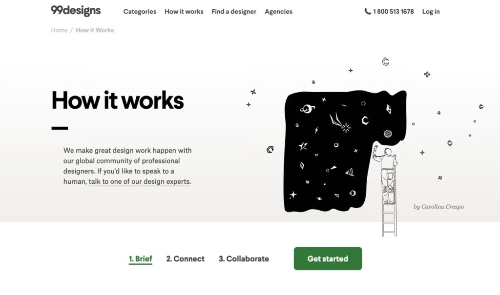 99designs Freelance Job site