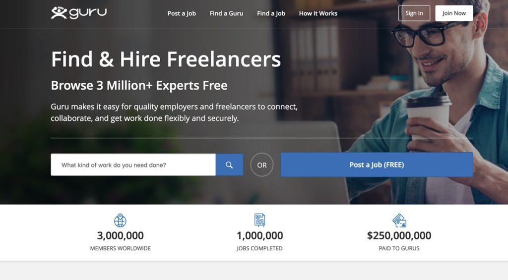 Guru Freelance Job site